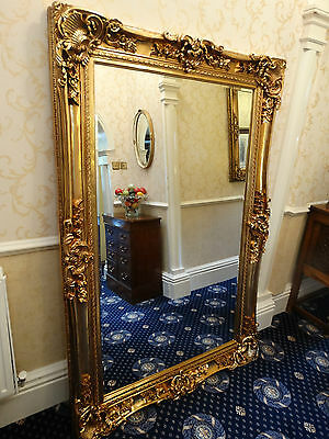 HUGE XL Oversized large Opulent Mirror Chunky Gold frame, wall mounted Leaner b