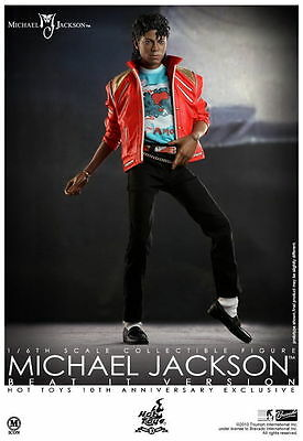 """Michael Jackson 1/6 action figure HOT TOYS Beat It jacket 12"""" DOLL collectible"""