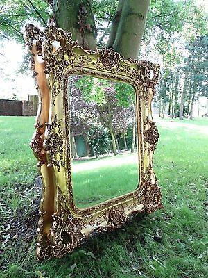 Large Rococo reproduction antique Wall hall mirror. Fabulous ornate & Opulent .
