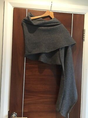 COS Grey Luxurious 100% Cashmere Warm Scarf Cover