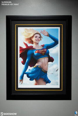 Supergirl Art Print by Sideshow Collectibles framed # 4 of 350 Unopened NIB