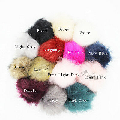 Hat Clothing Accessory Cute Ball Fur PomPom Charm Pompon +Press Button Removable