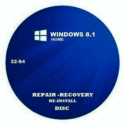 windows 8.1 repair recovery disc home 32-64