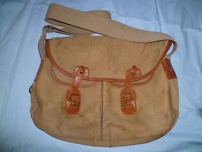 Vintage Brady Halesowen Canvas & Leather Fishing / Shooting Bag