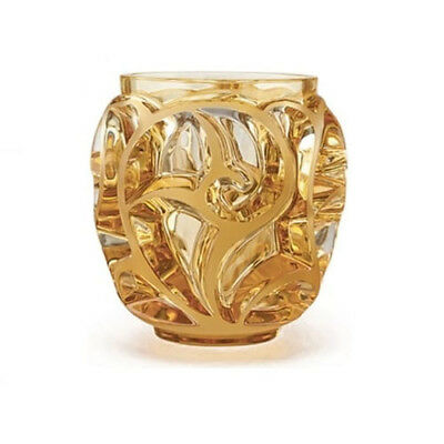 GENUINE LALIQUE Amber Crystal Tourbillions Vase 10571300 FREE DELIVERY