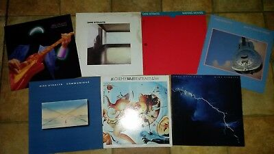 Dire Straits vinyl LP collection. Excellent+ vinyl's.