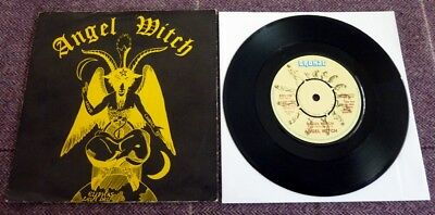 Angel Witch, Angel Witch/gorgon, 1980 Bronze Record Label 45 In Picture Sleeve.