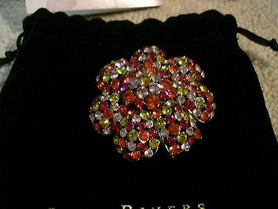 Sparkly JOAN RIVERS Crystal Flower Brooch/Pin  - Beautiful
