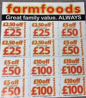 Farmfoods Coupons Vouchers 10% Discount. Worth £70.  Until 30th NOVEMBER  2017