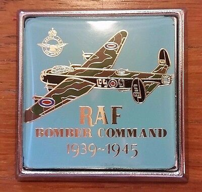 RAF Bomber Command 1939-1945 Lancaster Car Badge Renamel