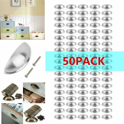 50X Cabinet Door Handles 94Mm Kitchen Cabinet Drawer Hardware Handle Silver Sk