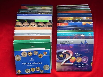 Australia. Mint Sets :1984 to 2015 - Complete Date Run of 32 Sets in RAM Folders