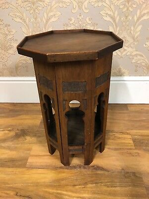sweet little vintage / antique  asian / eastern side table with inner storage