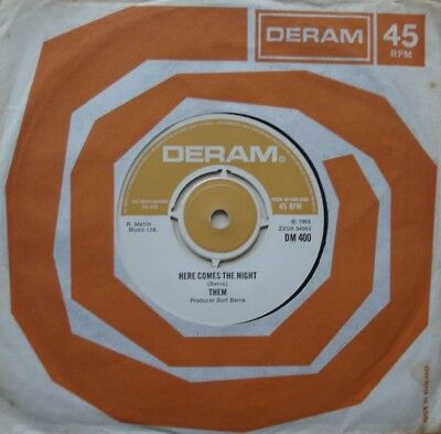 Them, Here Comes The Night / All For Myself, Deram, 7Inch 45Rpm
