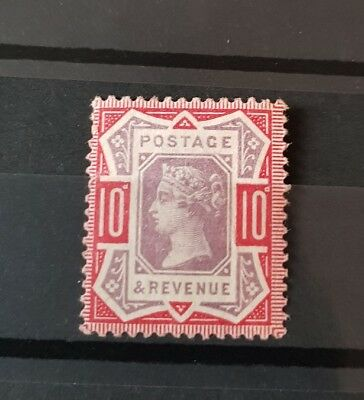 Gb Stamps Queen Victoria Sg 210 10D Dull Purple And Carmine M/mint