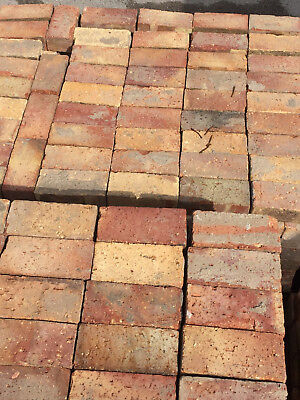 Reclaimed bricks recycled rustic solid yellow red tan from 70s demolition YORK