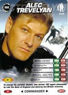 James Bond 007 Spy Cards ALEC TREVELYAN Trading Card Number 8 COMMON Sean Bean