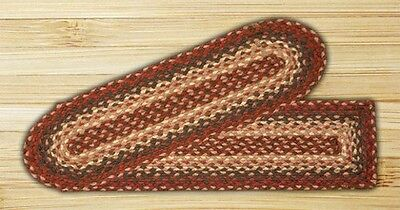 Braided Oval Burgundy Stair Tread by earth rugs
