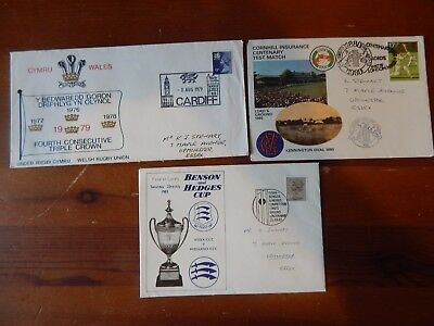 1980s x 3 SPORTING COVERS CRICKET & RUGBY SPECIAL P-MARKS