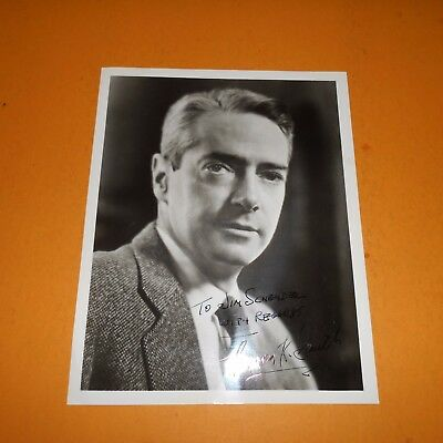 Howard K Smith was an American journalist, radio reporter Hand Signed Photo