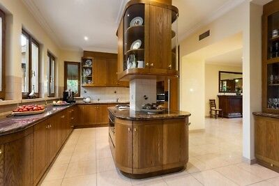 Complete Second Hand Large Timber Kitchen with Granite Bench Tops & European App