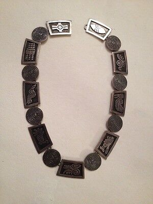 Vintage Taxco Mexico 925 Sterling Silver Necklace (missing hook)  87 grams (958)