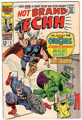 Not Brand Echh #3, Fine Condition!