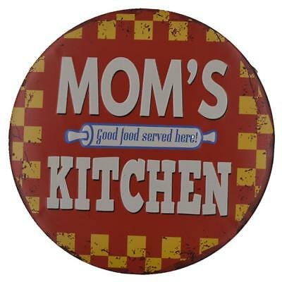 Round Retro Tin Metal Sign Poster Plaque Kitchen Dining Bar Wall Art Decor E