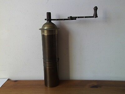 Brass Spice/Coffee Grinder-Turkish Vintage . 21 cm high & weighs 600g. REDUCED