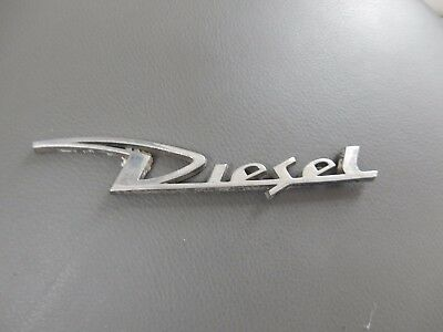 Diesel     Chrome  Sign   14 Cm   One Pin Short    To Restore Automobilia