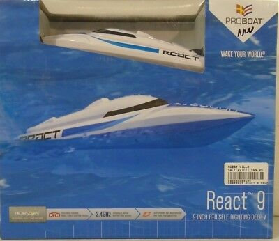 Pro Boat React 9 Self-Righting Deep-V Brushed:RTR PRB08023
