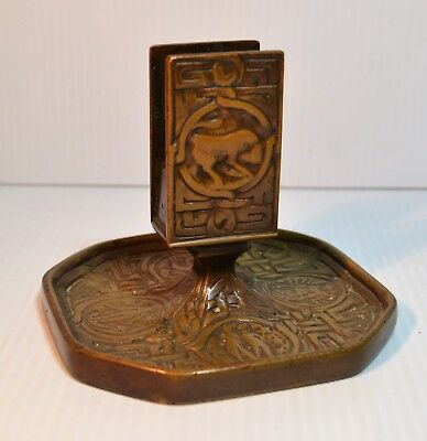 Tiffany Studios Zodiac Match Stand And Ashtray