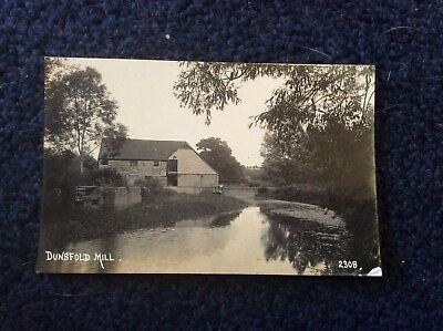 RPPC, 1920s era, DUNSFOLD MILL, SURREY, mill and river shown.