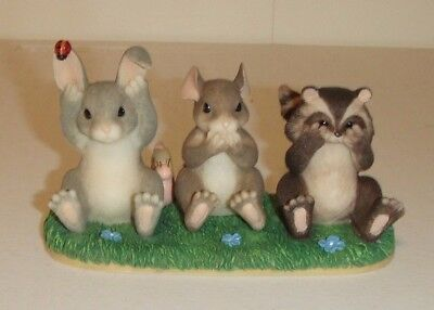 """Fitz and Floyd Charming Tails """"Hear, Speak & See No Evil"""" Figurine 89/717"""