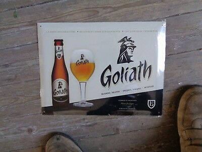 Goliath reclame metaal  sign new in blister the power of character