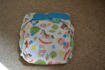 NIP - Tots Bots EasyFit Cloth Diaper Limited Edition - Royal Wave Easy Fit