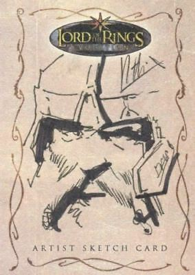 Lord of the Rings Evolution Sketch Card by Robert Teranishi Gimi