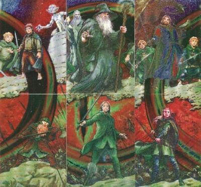 Lord of the Rings Masterpieces Series One Etched Foil Chase Card Set 6 Cards