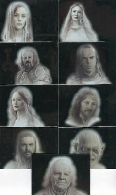 Lord of the Rings Masterpieces Series Two Silver Parallel Chase Card Set 9 Cards