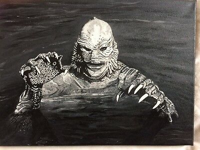 The Creature from The Black Lagoon  **Original Hand Painted Canvas!!!!!!