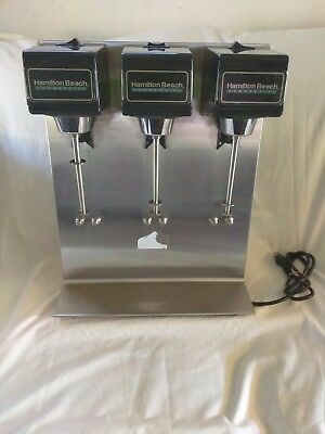 Hamilton Beach Commercial 950  3-Spindle 3-Speed Mixer tested and works