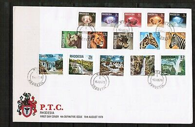 Rhodesia 1978 4th Definitives on FDC