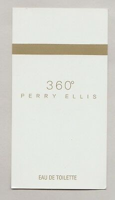 Carte Publicitaire + patch - Perfume Card -  Perry Ellis recto verso
