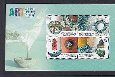 COCOS Islands 2016  ART and CRAFTS of Cocos minisheet  MNH -