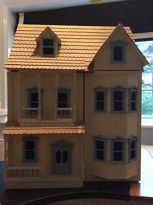 3 storey large Wooden Dolls House With Furniture And People, collect  Orpington