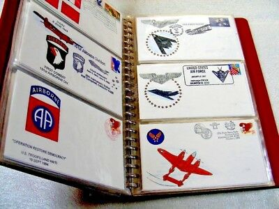 US, Air Force &, Excellent Accumulation of EVENT Covers in a binder