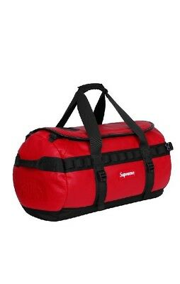 Supreme The North Face Leather Base Camp Duffel Rot