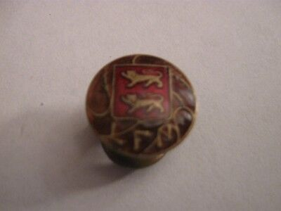 Rare Old Lfn Normandie Football League French Enamel Buttonhole Badge