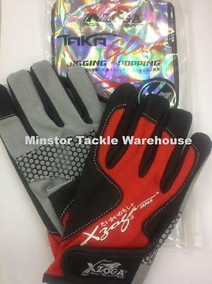 Xzoga Taka Fishing Gloves for Jigging and Popping (NEW MODEL)