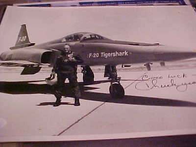 Chuck Yeager Ist Pilot To Break Sound Barrier Signed Photo Jsa S90084